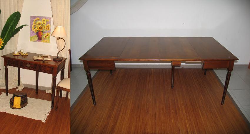 Mesa consola extensible consolas muebles auxiliares for Muebles el desvan